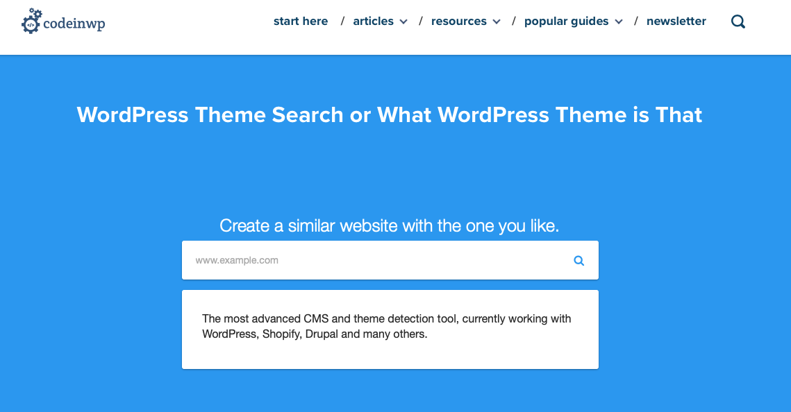 What Theme by CodeinWp