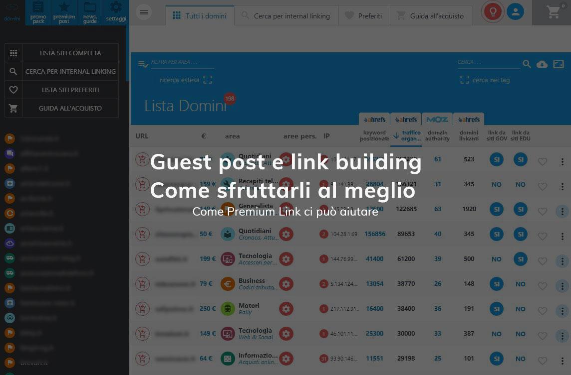 Guest post e link building, come sfruttarli al meglio